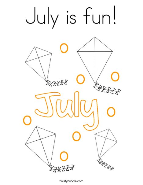 July is fun! Coloring Page