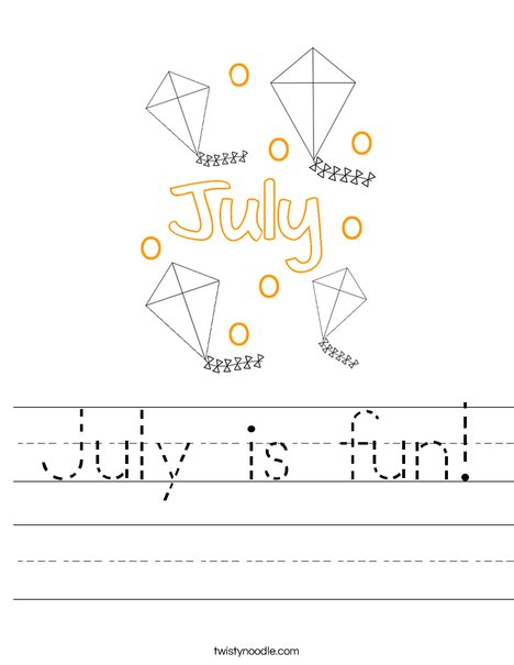 July is fun! Worksheet