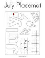 July Placemat Coloring Page