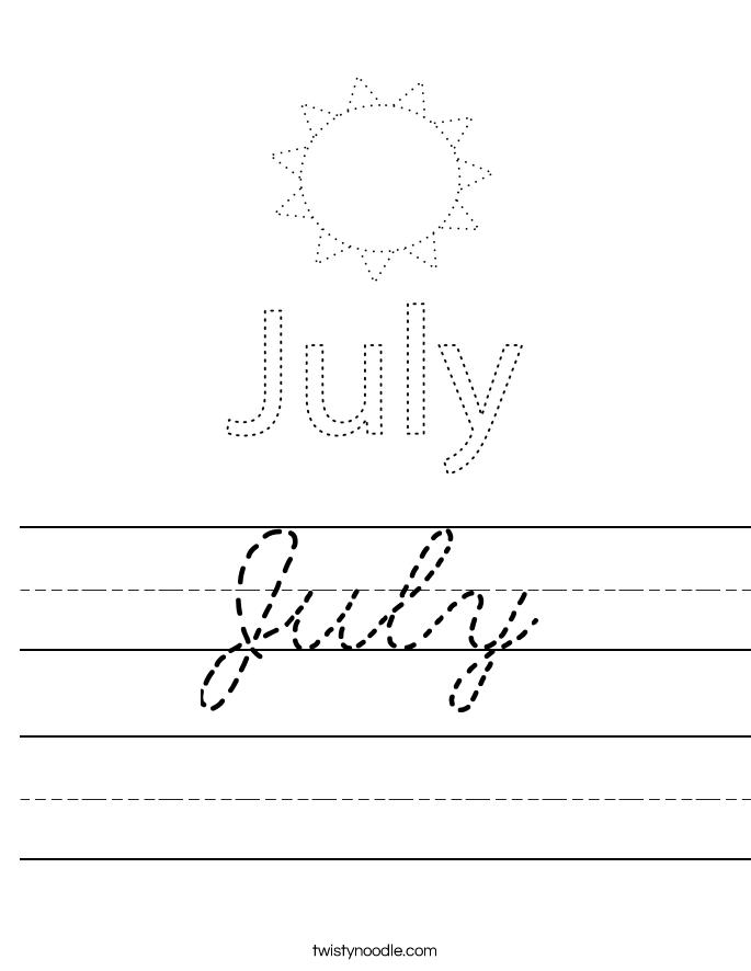 July Worksheet
