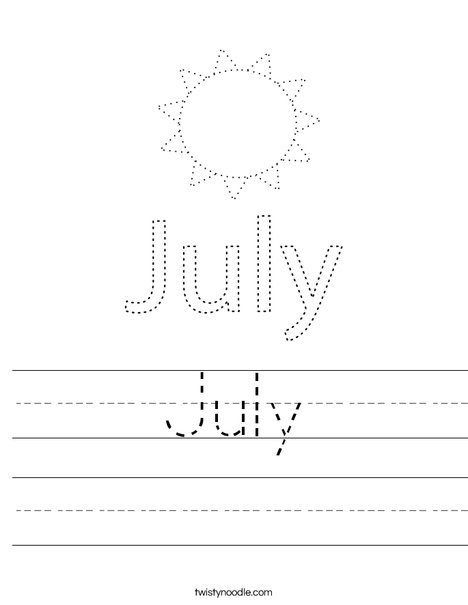 July Worksheet