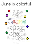 June is colorful Coloring Page