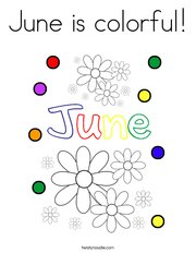 June is colorful! Coloring Page