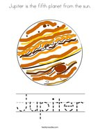 Jupiter is the fifth planet from the sun Coloring Page