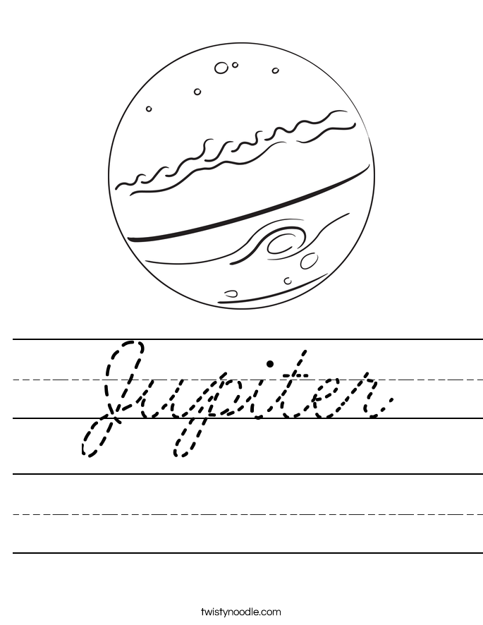 Jupiter Worksheet Cursive Twisty