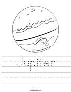 Jupiter Handwriting Sheet