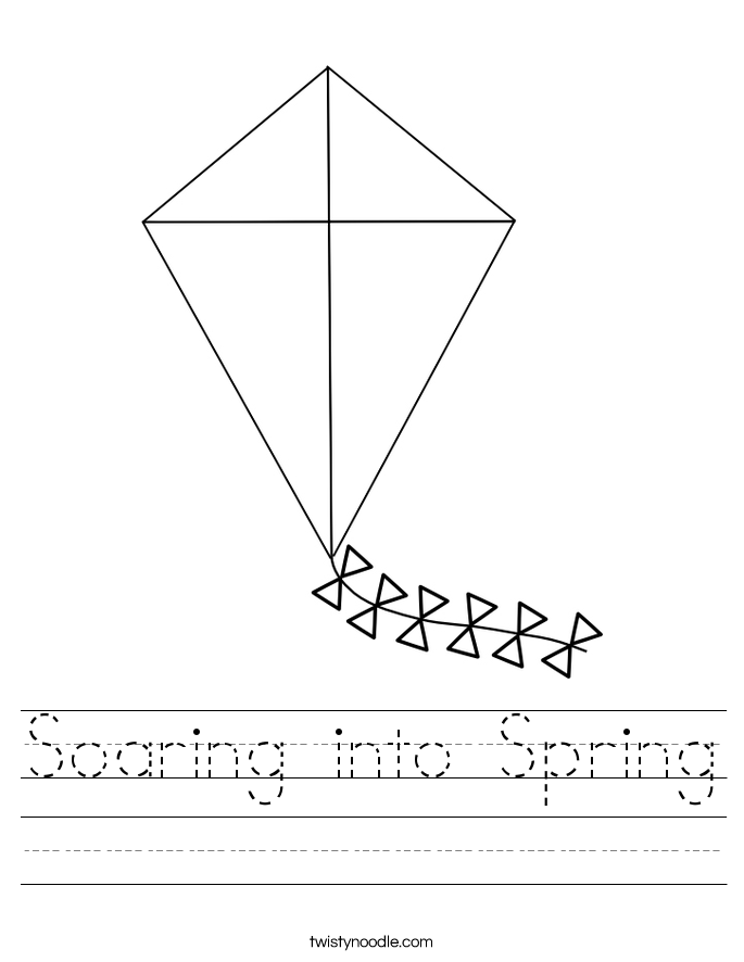 Soaring into Spring Worksheet