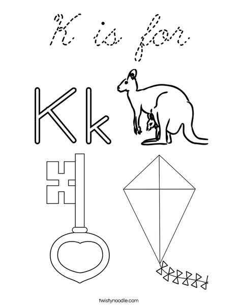 K is for Coloring Page