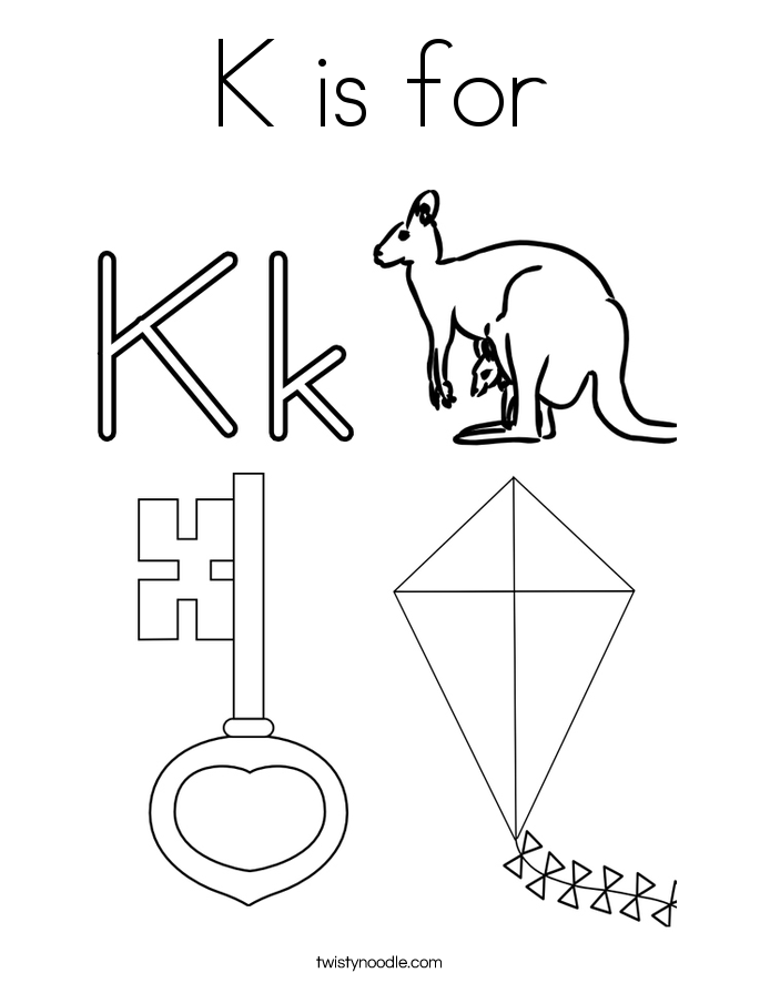 k coloring pages - photo #9