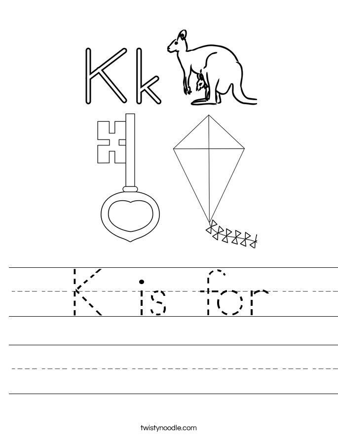 k is for handwriting sheet