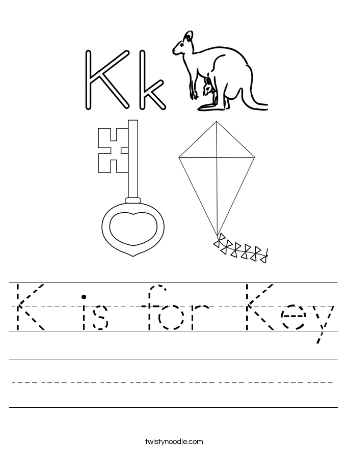 K is for Key Worksheet