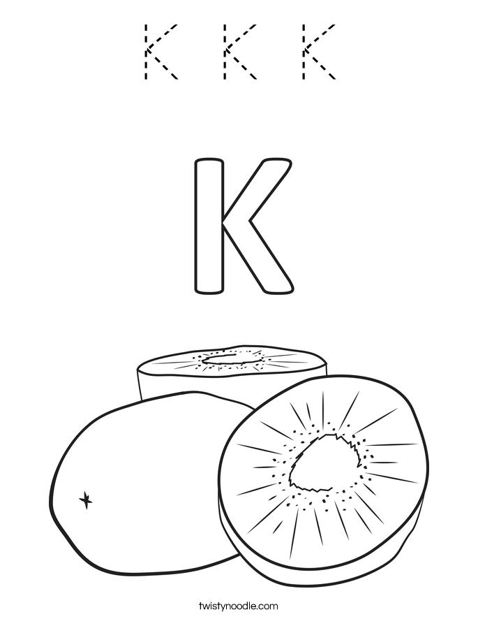 K K K Coloring Page