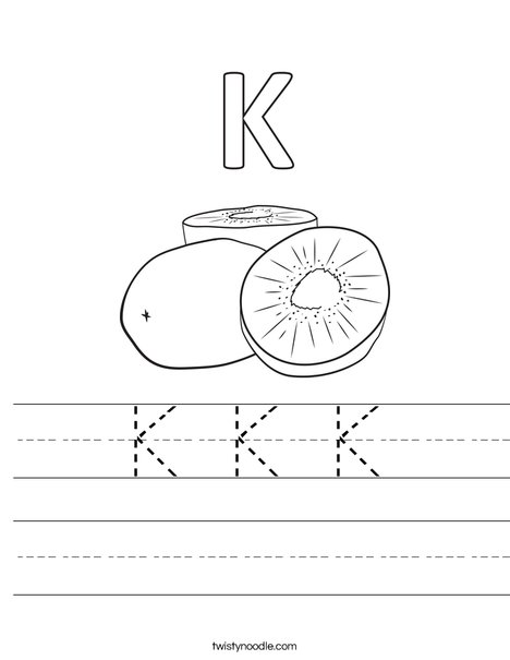 K Kiwi Worksheet