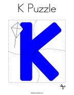 K Puzzle Coloring Page