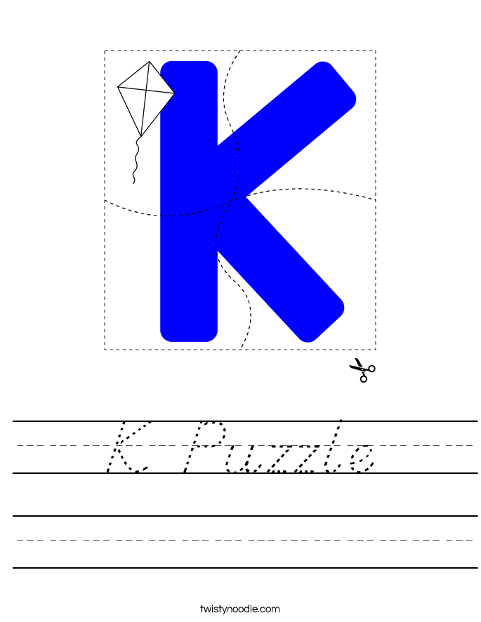K Puzzle Worksheet