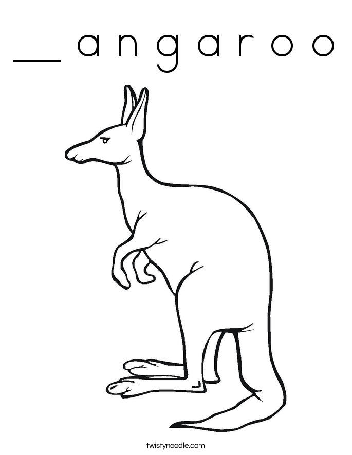 __ a n g a r o o Coloring Page