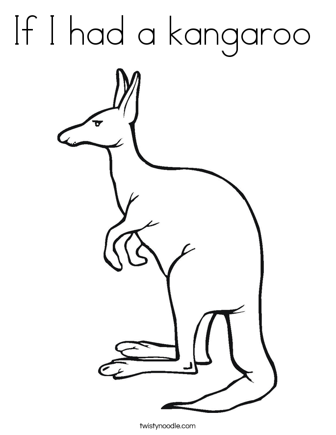 If I had a kangaroo  Coloring Page