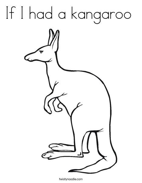 Kangaroo Coloring Page