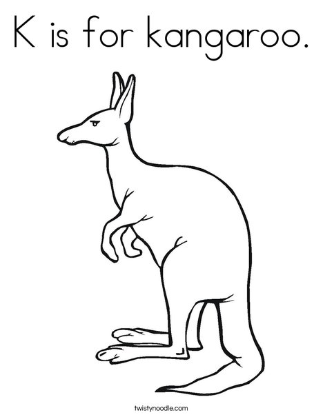 k for kangaroo coloring pages - photo#8