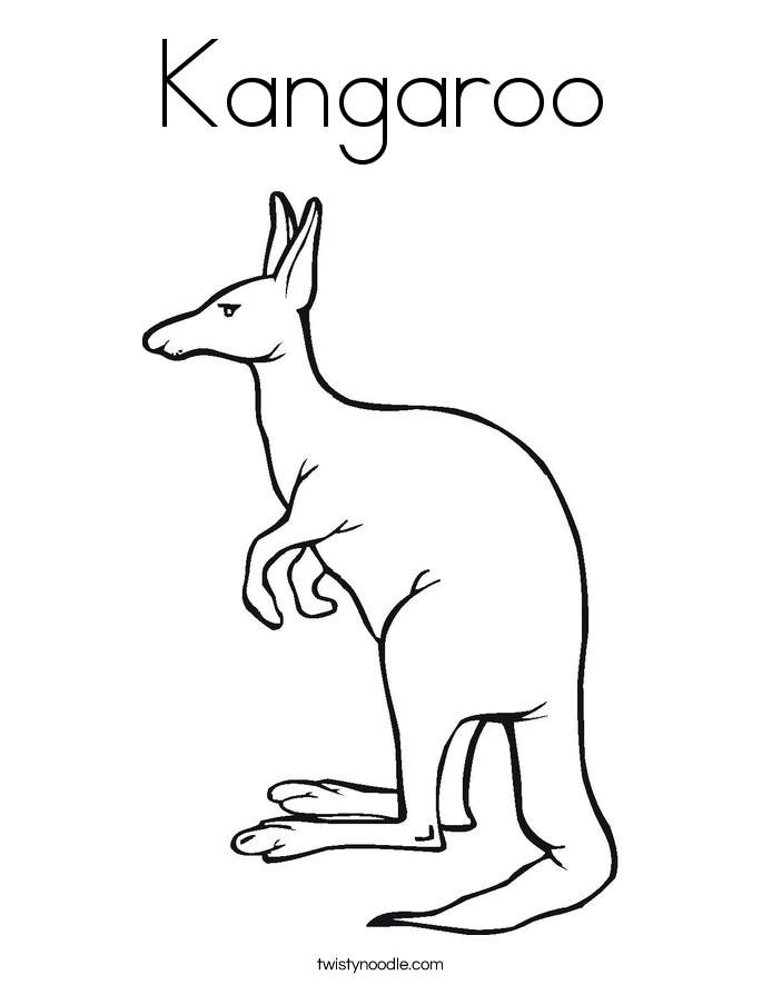 kangaroo animal coloring pages. Kangaroo Coloring Page  Twisty Noodle