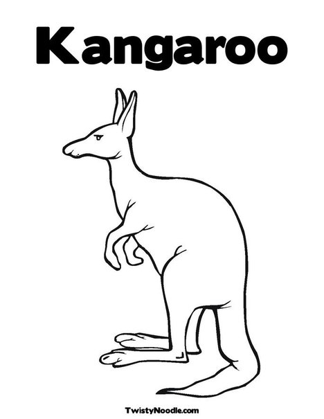Aboriginal Kangeroo Colouring Pages