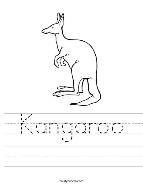 Kangaroo Worksheet