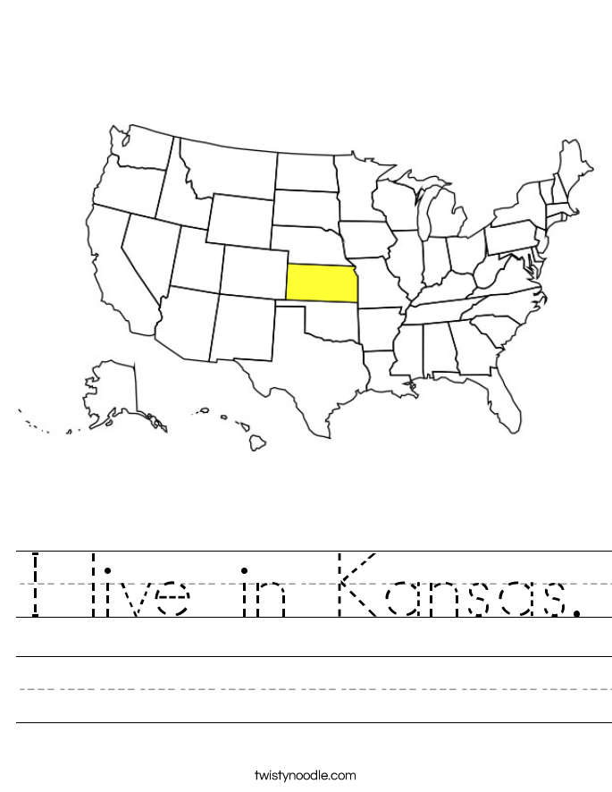 I live in Kansas. Worksheet
