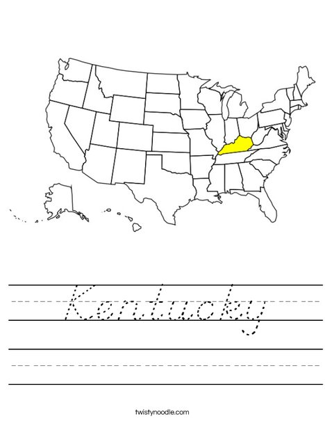 Kentucky Worksheet