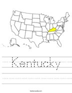 Kentucky Handwriting Sheet