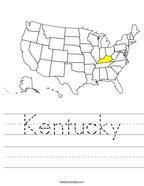 Kentucky Handwriting Sheet