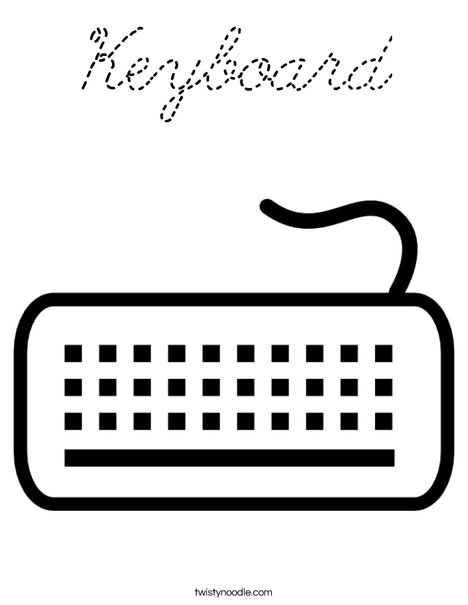 Keyboard Coloring Page
