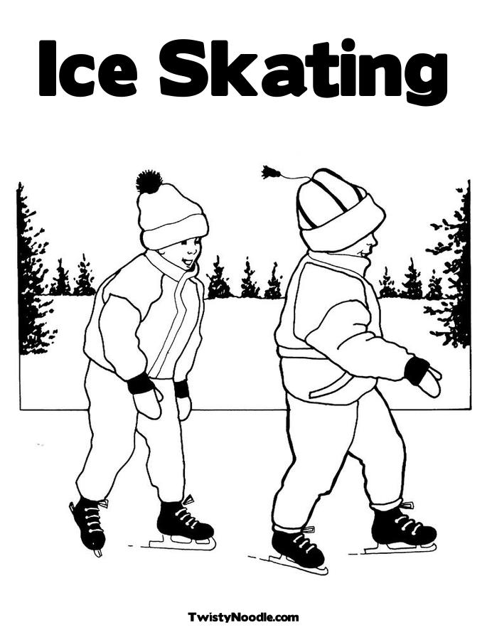 penguins ice skating coloring pages - photo#32