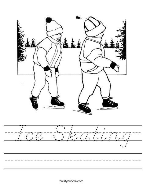 Kids Ice Skating Worksheet