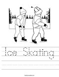 Ice Skating Worksheet