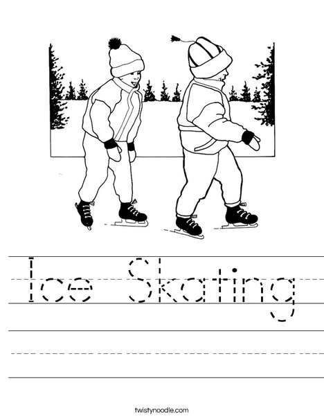 Kids Ice Skating Worksheet