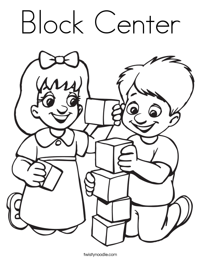 Block Center Coloring Page