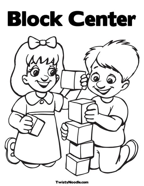 coloring pages building block - photo#35