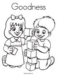 Goodness Coloring Page