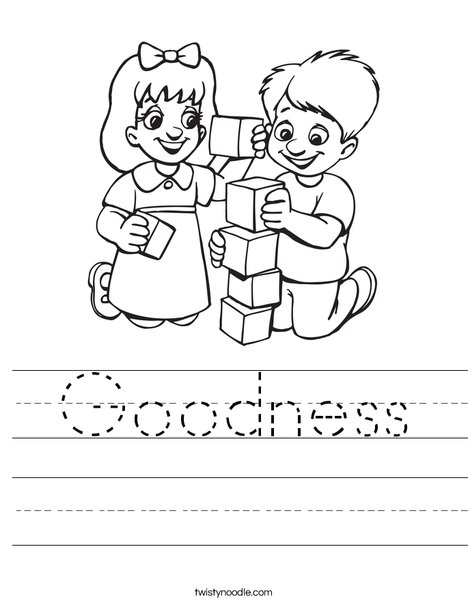 Goodness Worksheet - Twisty Noodle