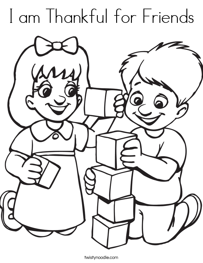 my friends coloring pages - photo#33