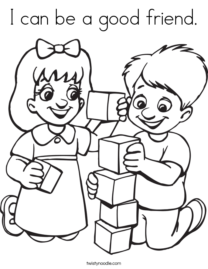 my friends coloring pages - photo#47