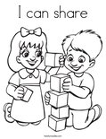 I can shareColoring Page