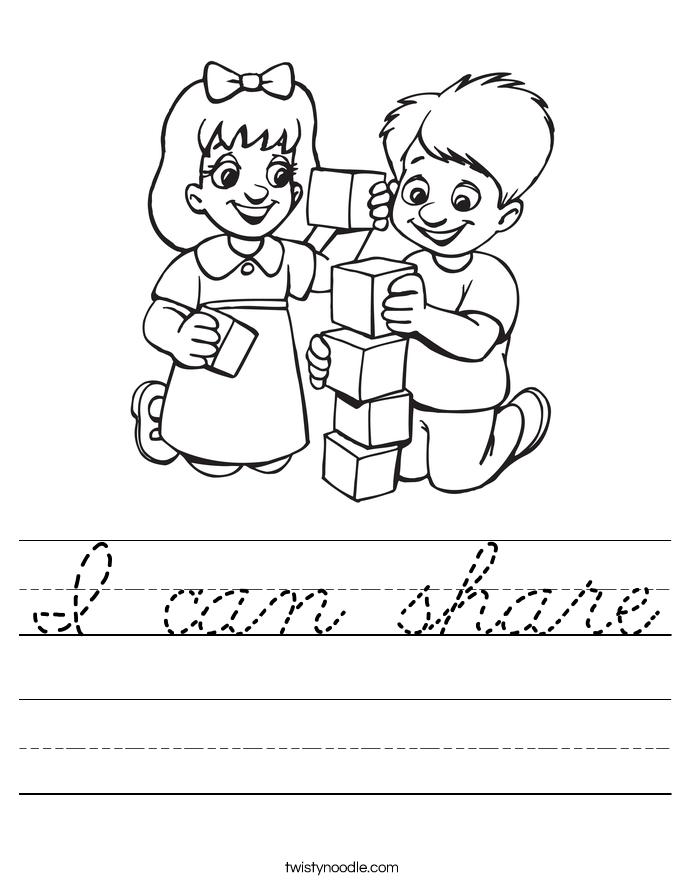 I can share Worksheet