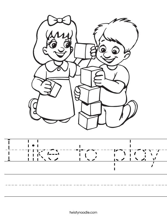 I like to play Worksheet