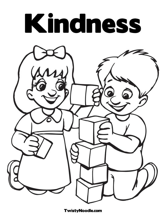 Kindness To Others Coloring Pages