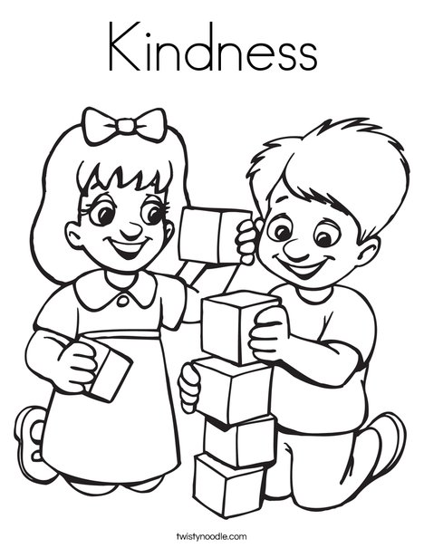 Kindness Coloring Page Twisty