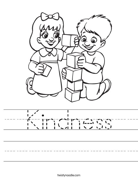 Kindness Worksheet Twisty Noodle