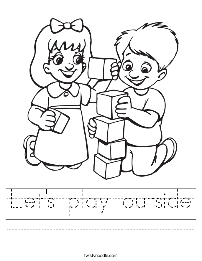 Let's play outside Worksheet