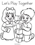 Let's Play Together Coloring Page