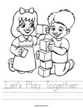 Let's Play Together Worksheet